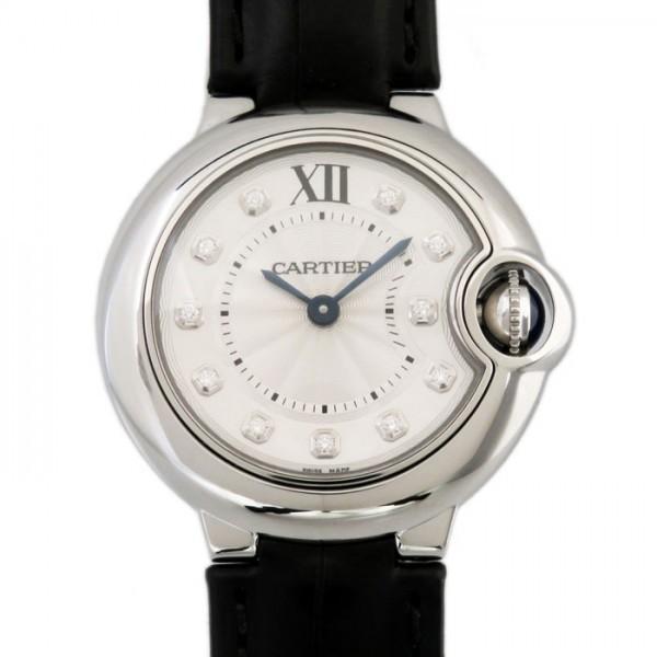 カルティエ バロンブルー W4BB0008 シルバー文字盤 レディース 腕時計 新品