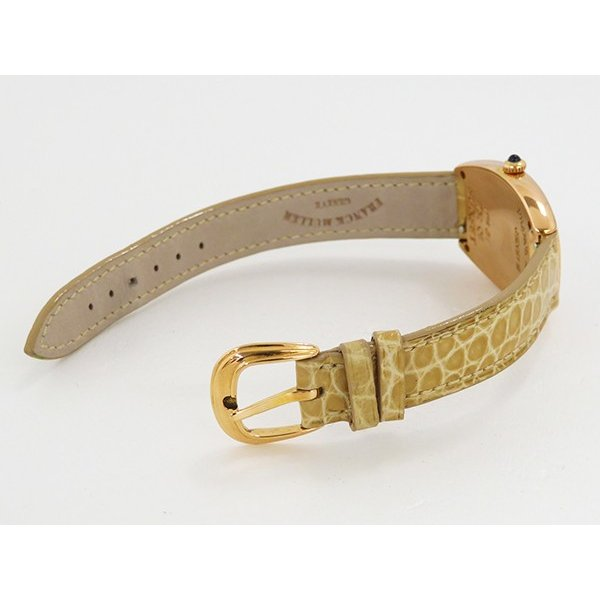フランク・ミュラー トノウカーベックス サンセット 1752QZ SUNSET シルバー文字盤 レディース 腕時計 中古