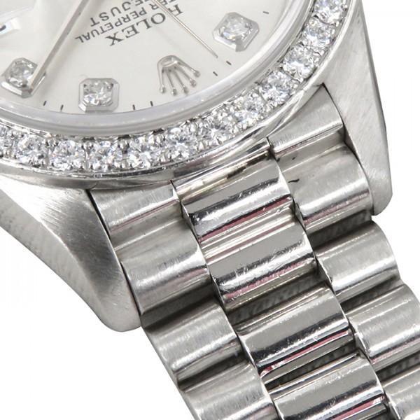 ロレックス デイトジャスト 69136G シルバー文字盤 レディース 腕時計 中古