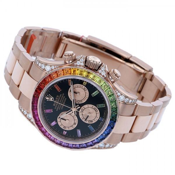 ロレックス デイトナ レインボー 116595RBOW ブラック/ピンク文字盤 メンズ 腕時計 新品 gc-yukizaki 02