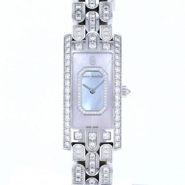 ハリー・ウィンストン アヴェニュー C エメラルド AVCQHM19WW138 ホワイト文字盤 レディース 腕時計 中古