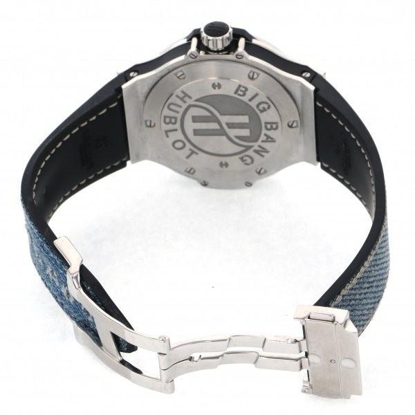 ウブロ ビッグバン ジーンズ ダイヤモンド 361.SX.2710.NR.1104.JEANS ブルー文字盤 レディース 腕時計 中古