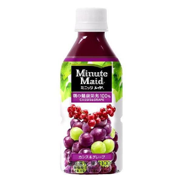 【コンペ商品】【果汁飲料】ミニッツメイド 朝の健康果実 カシス&グレープ PET350ml 1ケース(24本入)
