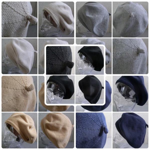 【店内商品2点以上ご購入で送料無料】帽子 ベレー サマーコットン ニットベレー帽 オールシーズン シンプル ベレー帽 メンズ レディース gcp 05