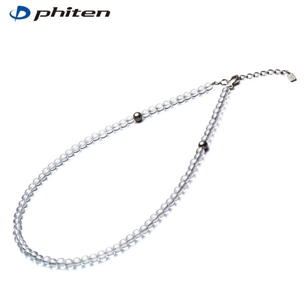 【送料無料】Phiten ファイテン 水晶ネックレス(5mm玉) 50cm (0515AQ808053)