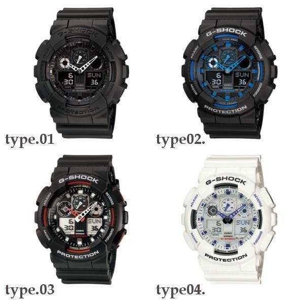 訳あり特価 CASIO G-SHOCK ジーショック 黒 ブラック デジタル アナログ ブランド  メンズ 腕時計 GA-100-1A1 GA-100-1A2 GA-100-1A4 GA-100A-7A GA-100A-9A|geestore|04