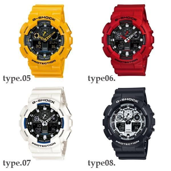訳あり特価 CASIO G-SHOCK ジーショック 黒 ブラック デジタル アナログ ブランド  メンズ 腕時計 GA-100-1A1 GA-100-1A2 GA-100-1A4 GA-100A-7A GA-100A-9A|geestore|05