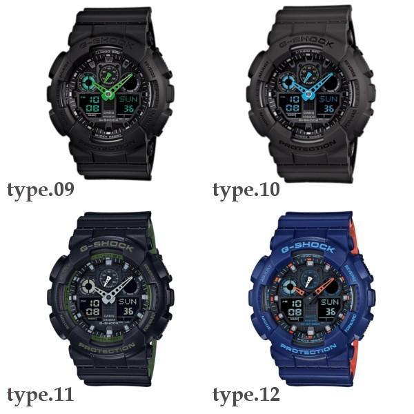 訳あり特価 CASIO G-SHOCK ジーショック 黒 ブラック デジタル アナログ ブランド  メンズ 腕時計 GA-100-1A1 GA-100-1A2 GA-100-1A4 GA-100A-7A GA-100A-9A|geestore|06