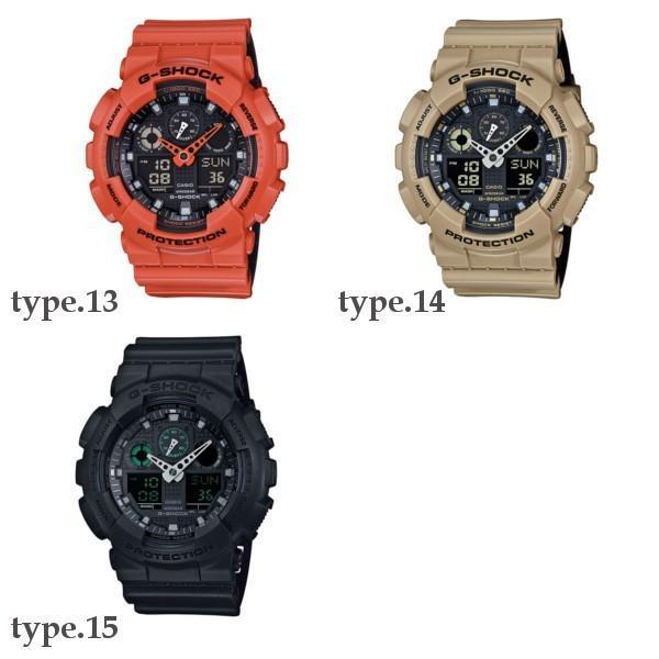 訳あり特価 CASIO G-SHOCK ジーショック 黒 ブラック デジタル アナログ ブランド  メンズ 腕時計 GA-100-1A1 GA-100-1A2 GA-100-1A4 GA-100A-7A GA-100A-9A|geestore|07