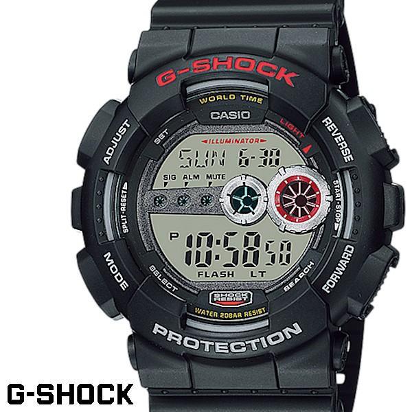 82d1ca683b CASIO G-SHOCK ジーショック メンズ 腕時計 GD-100-1AJF ブラック LEDバック ...