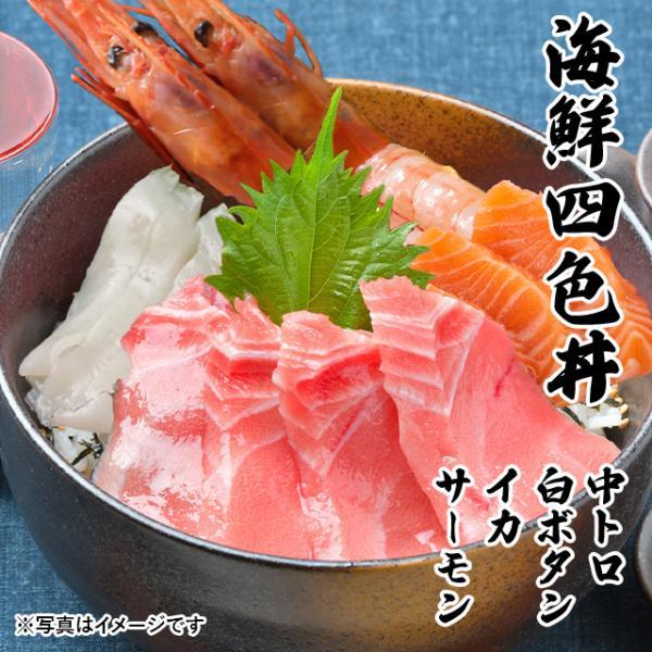 海鮮四色丼 中トロ ボタンエビ サーモン ヤリイカ 海鮮丼 海鮮セット 刺身 誕生日 贈り物 プレゼント 3〜4人前