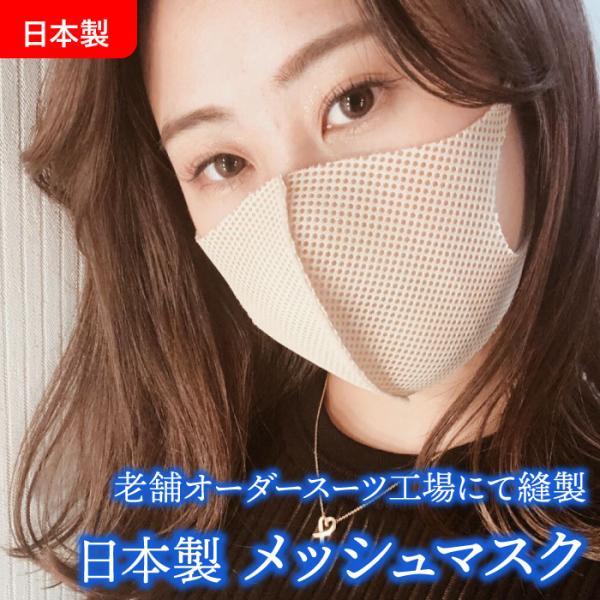 (返品交換不可)(ゆうパケット対応(10枚))日本製メッシュマスク立体マスクフィットマスク