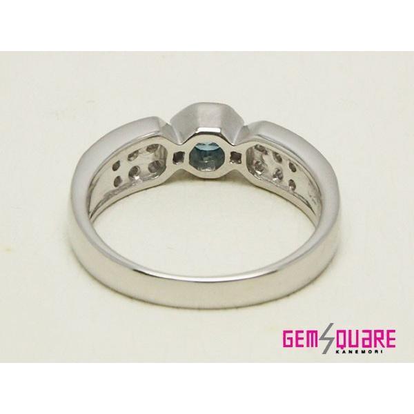 PTブルーダイヤモンドリング 指輪BD0.20 D0.27(質屋出店)(ポリッシュ済み)
