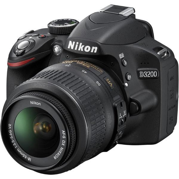 Nikon デジタル一眼レフカメラ D3200 200mmダブルズームキット 18-55mm/55-200mm付属 ブラック D3200WZ