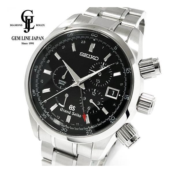 美品グランドセイコースプリングドライブクロノグラフマスターショップ SBGC003メンズ腕時計