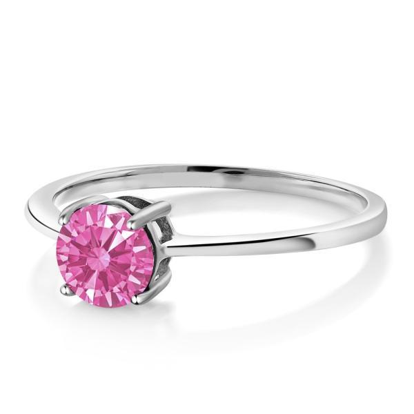 指輪 リング スワロフスキージルコニア(ピンク) 10金 ホワイトゴールド(K10)