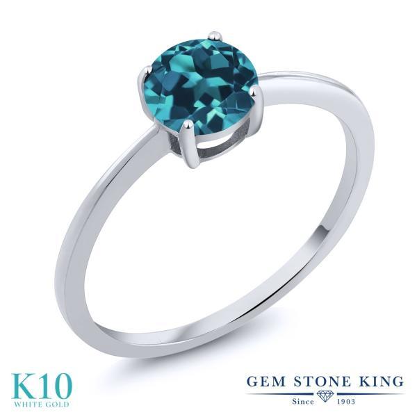 指輪 リング 1.1カラット 天然トパーズ(ロンドンブルー) 10金 ホワイトゴールド(K10)