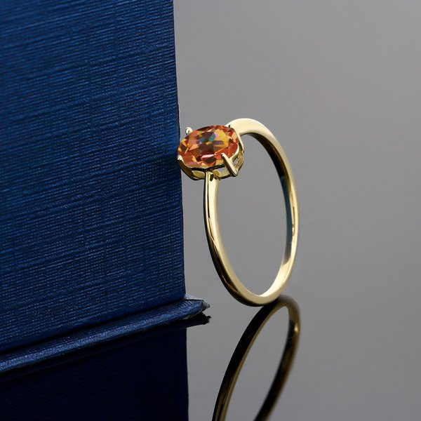 指輪 リング 0.8カラット 天然石 エクスタシーミスティックトパーズ 10金 イエローゴールド(K10)