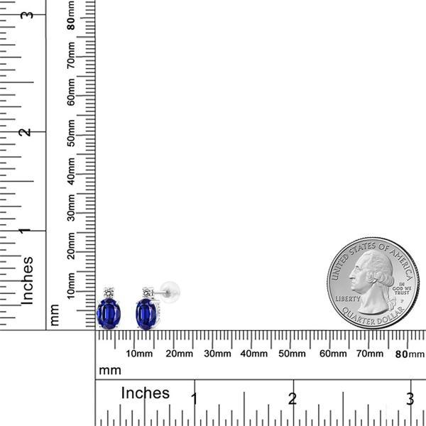 ピアス 3.4カラット 14金 ホワイトゴールド(K14) 天然ダイヤモンド