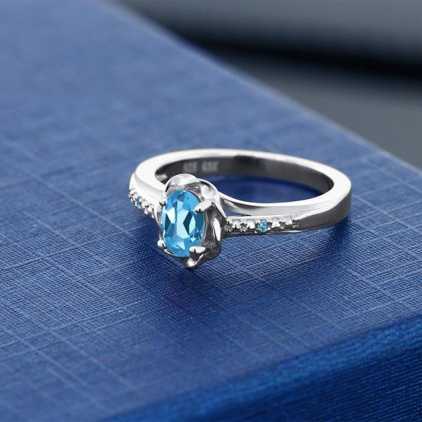 指輪 リング 0.51カラット 天然トパーズ(スイスブルー) シルバー925