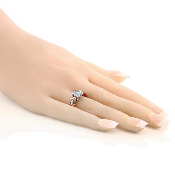 指輪 リング 1.3カラット 天然トパーズ(無色透明) シルバー 925 ローズゴールドコーティング