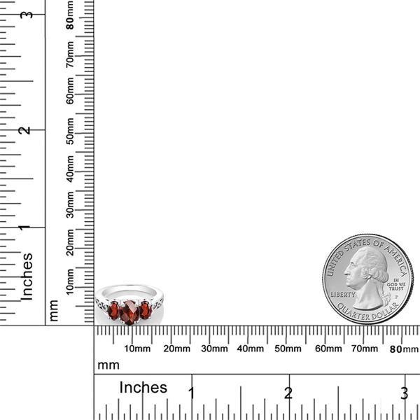 指輪 リング 2.4カラット 天然ガーネット シルバー925