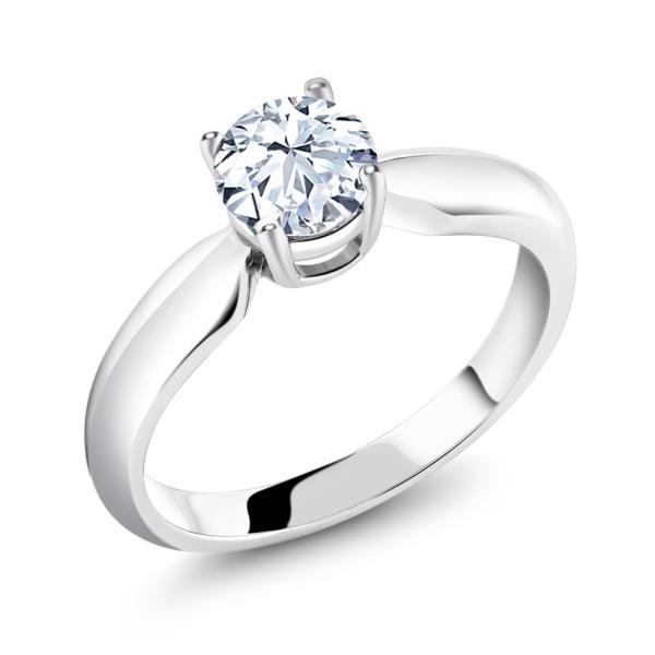 指輪 リング 1.2カラット 合成ホワイトサファイア(ダイヤのような無色透明) シルバー925