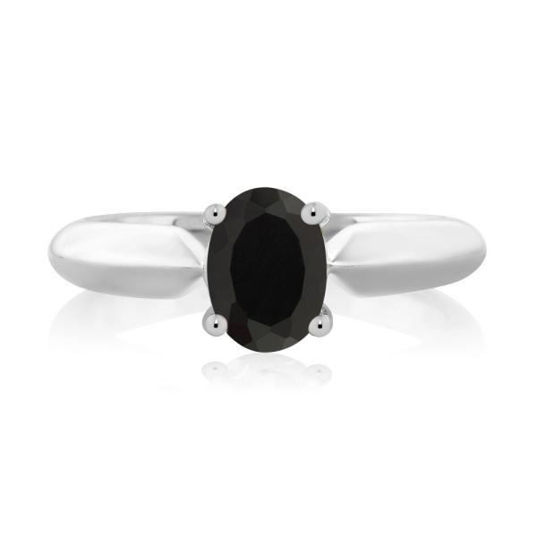 指輪 リング 0.68カラット 天然ブラックオニキス シルバー925(純銀)