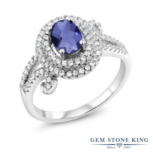 指輪 リング 1.90カラット 天然アイオライト(ブルー) シルバー925