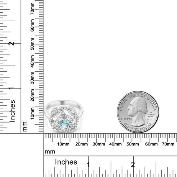 指輪 リング 1.73カラット 天然トパーズ(スカイブルー) シルバー925