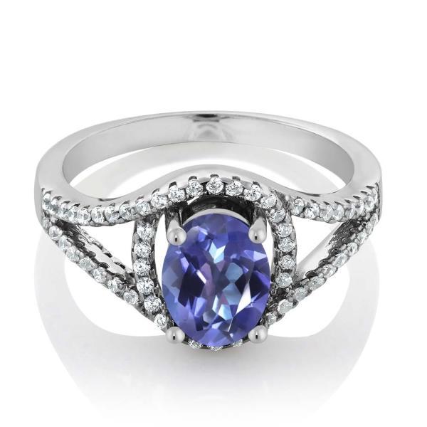 指輪 リング 2.31カラット 天然ミスティックトパーズ(タンザナイトブルー) シルバー925