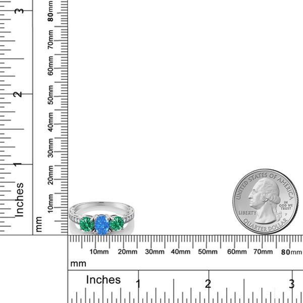 指輪 リング 1.8カラット スワロフスキージルコニア(ファンシーブルー) シルバー925