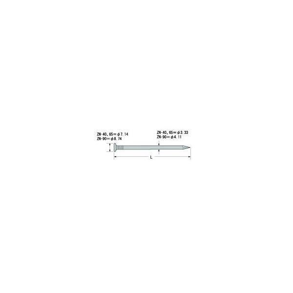 Zマーク Z太め釘 ZN-40 1kg箱(約326本)