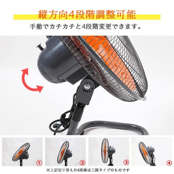 工場扇 工場扇風機 羽根 45cm 首振り 大型 床置き 開放式 オレンジ genbaichiba 02