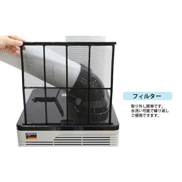 スポットエアコン スポットクーラー 業務用 単相 100V 首振り 熱中症 移動式|genbaichiba|06
