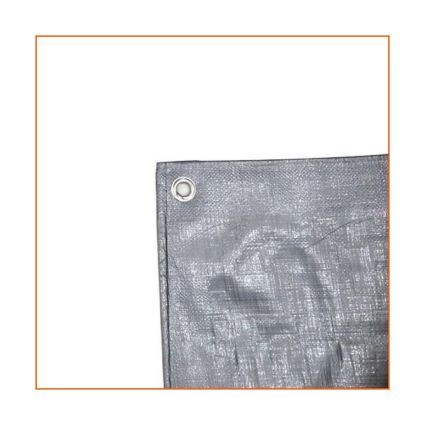 厚手 防水 耐候性 屋外 UVシート #4000 OSK シルバー 5.4x7.2m|genbaichiba|02