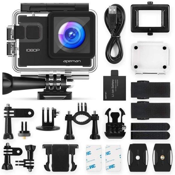 進化版 APEMAN A66S アクションカメラ 1080P高画質 1400万画素 HDMI出力 スポーツカメラ 2インチ液晶画面 40M general-purpose