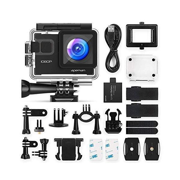 進化版 APEMAN A66S アクションカメラ 1080P高画質 1400万画素 HDMI出力 スポーツカメラ 2インチ液晶画面 40M general-purpose 02