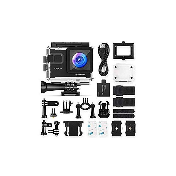 進化版 APEMAN A66S アクションカメラ 1080P高画質 1400万画素 HDMI出力 スポーツカメラ 2インチ液晶画面 40M general-purpose 11