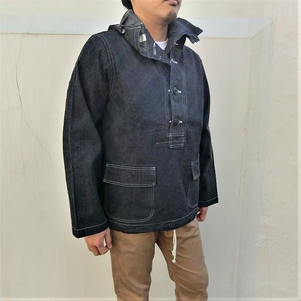 ジャケット デニム メンズ BUZZ RICKSON'S NAVY HOODED PULLOVER JACKET フーディ BR11703 generalstore-y 02