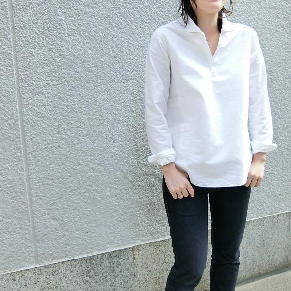 GENERAL STORE ORIGINAL ( オックスフォード ) スモックシャツ カフェ ユニフォーム |generalstore-y|03