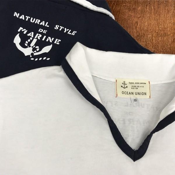 メール便送料無料 OCEAN UNION スキッパー Tシャツ|generalstore-y