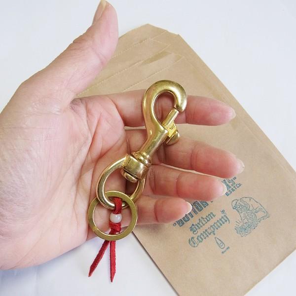 メール便 送料無料 キーホルダー ブランド BUTTON WORKS (ボタンワークス)フック NEW KEYHOLDER 真鍮|generalstore-y|05
