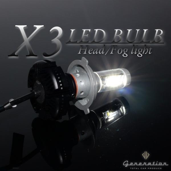 ホンダ オデッセイ RC1/2 マイナーチェンジ前 X3 LEDヘッドライト 全光束6000LM 車検対応 generation-world