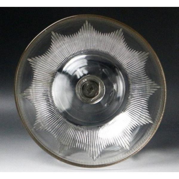 【源】【S】《昭和前期》時代物 カットガラス コンポート genjian39 06