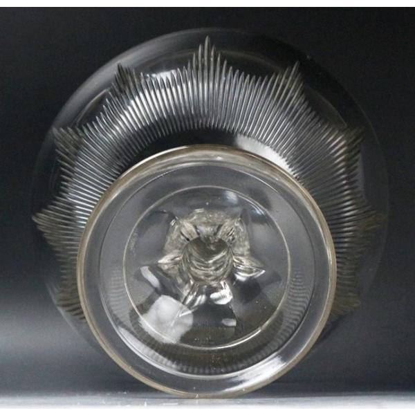 【源】【S】《昭和前期》時代物 カットガラス コンポート genjian39 08