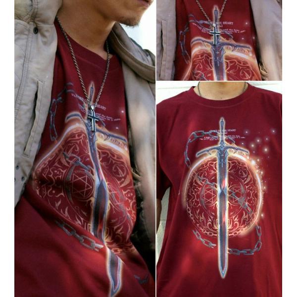 Tシャツ トライバル 剣 ファンタジー|genju|03