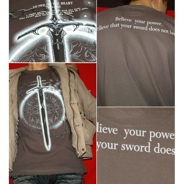 Tシャツ トライバル 剣 ファンタジー|genju|04