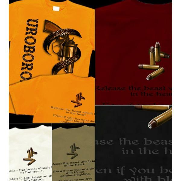 Tシャツ マグナム 拳銃 メンズ genju 02