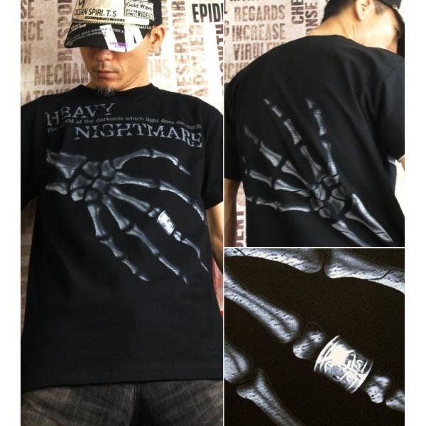 Tシャツ スカル メタル ロック ハード|genju|02